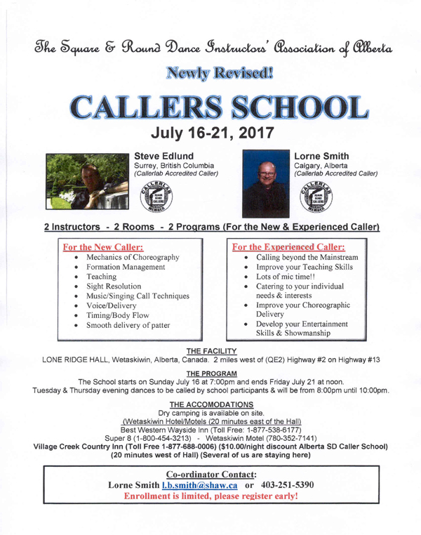 Callers School July 2017